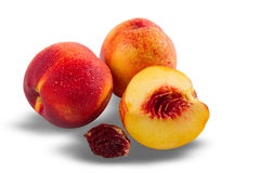 Ripe juicy nectarines Stock Image