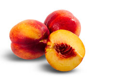 Ripe juicy nectarines Stock Photos