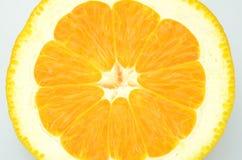 Ripe juicy orange isolated on white background Stock Photo