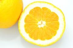 Ripe juicy orange isolated on white background Stock Photography