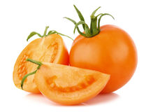 Ripe juicy orange tomatos Stock Photo