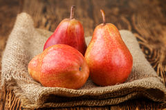 Ripe juicy organic red pears Stock Images