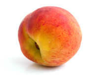 Ripe, juicy peach. On a white background Stock Images
