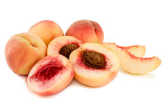 Ripe, juicy peaches. Stock Photo