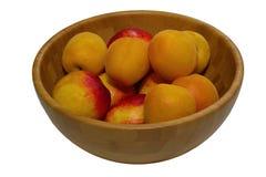 Ripe juicy peaches Stock Photos