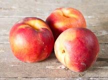 Ripe juicy peaches Stock Photo
