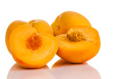 Ripe juicy peaches Stock Photos