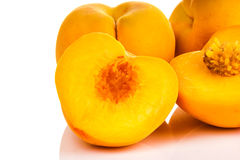 Ripe juicy peaches Stock Photography