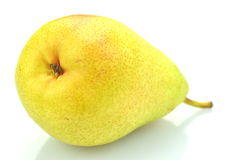 Ripe juicy pear  on white background Royalty Free Stock Images