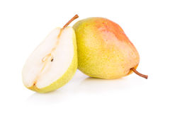 Ripe juicy pear Stock Images