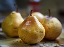 Ripe juicy pears in closeup Royalty Free Stock Images