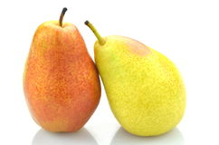 Ripe juicy pears isolated on white background Stock Image