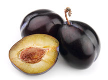 Ripe juicy plum Royalty Free Stock Photos
