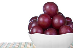 Ripe  juicy plums Stock Photos