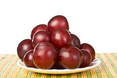 Ripe  juicy plums Royalty Free Stock Photos