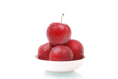 Ripe and juicy plums on white Royalty Free Stock Photography