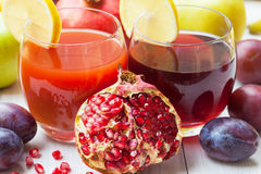 Ripe juicy pomegranates Royalty Free Stock Photo