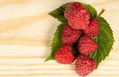 Ripe juicy raspberries Royalty Free Stock Images
