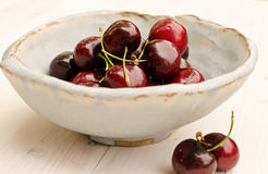 Ripe and juicy red cherries Stock Photography