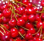 Ripe juicy red sweet cherries Stock Photo