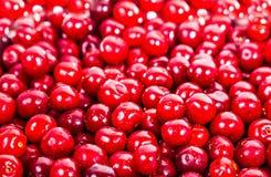 Ripe juicy red sweet cherries Stock Photos
