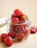 Ripe juicy strawberry Stock Image