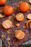 Ripe and juicy tangerine cloves Royalty Free Stock Images