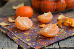 Ripe and juicy tangerine cloves Stock Image
