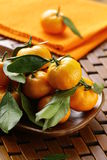 Ripe juicy tangerine, orange mandarin Stock Photography