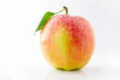 Ripe, juicy and tasty apples. On a white background Royalty Free Stock Photos