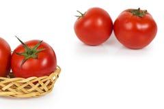 Ripe juicy tomatoes Stock Photos