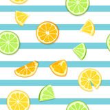 Ripe juicy tropical fruit striped seamless background.  Royalty Free Stock Image