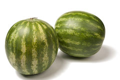 Ripe and juicy water melon. On white background Stock Image