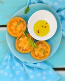 Ripe and juicy yellow tomatoes Royalty Free Stock Photo