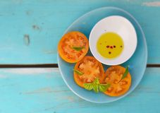 Ripe and juicy yellow tomatoes Royalty Free Stock Images