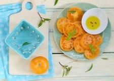 Ripe and juicy yellow tomatoes Stock Photo