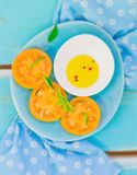 Ripe and juicy yellow tomatoes Royalty Free Stock Photos