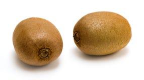 Ripe kiwi_01. Two ripe kiwi fruit isolated on a white background Royalty Free Stock Photography