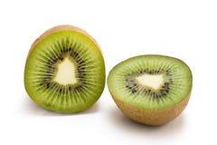 Ripe kiwi_04. Two halves of ripe kiwi fruit isolated on a white background Stock Image