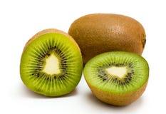 Ripe kiwi_05. Ripe kiwi fruit isolated on white background Stock Photography