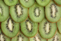 Ripe kiwi in a cut stock image