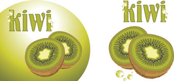 Ripe kiwi fruit. Icons for design Royalty Free Stock Photo