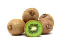 Ripe kiwi fruit isolated on white background close up Stock Photography