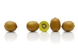 Ripe kiwi fruit  on white background. Royalty Free Stock Image