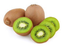 Ripe kiwi fruits with slices Royalty Free Stock Photography