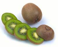 Ripe kiwi and segment Royalty Free Stock Photo