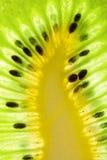 Ripe kiwi slice Stock Images