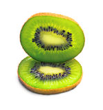 Ripe kiwi on white Stock Photos