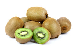 Ripe kiwi on a white background. Stock Images