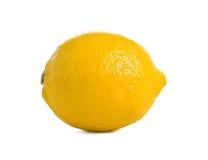 Ripe lemon. Ripe fresh lemon on white background. Isolated Stock Image